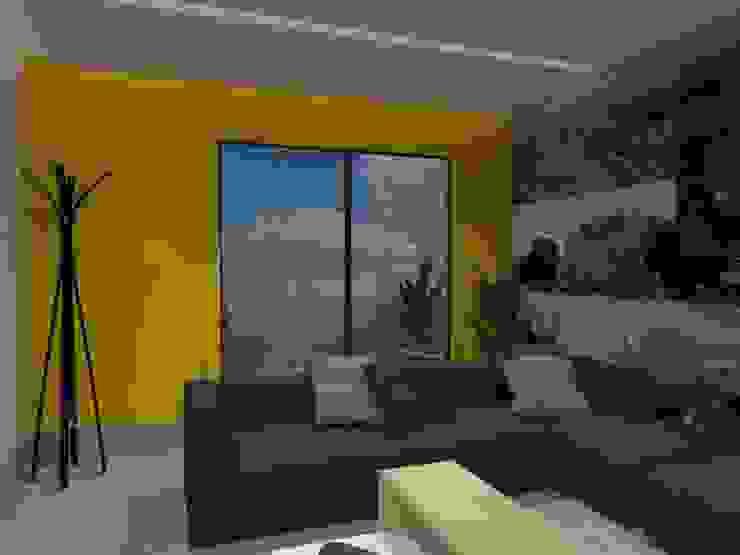 SALA DE TV Salas multimedia eclécticas de AurEa 34 -Arquitectura tu Espacio- Ecléctico