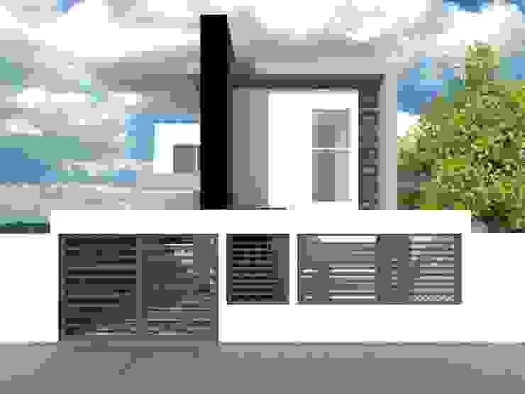 FACHADA Casas modernas de AurEa 34 -Arquitectura tu Espacio- Moderno Concreto