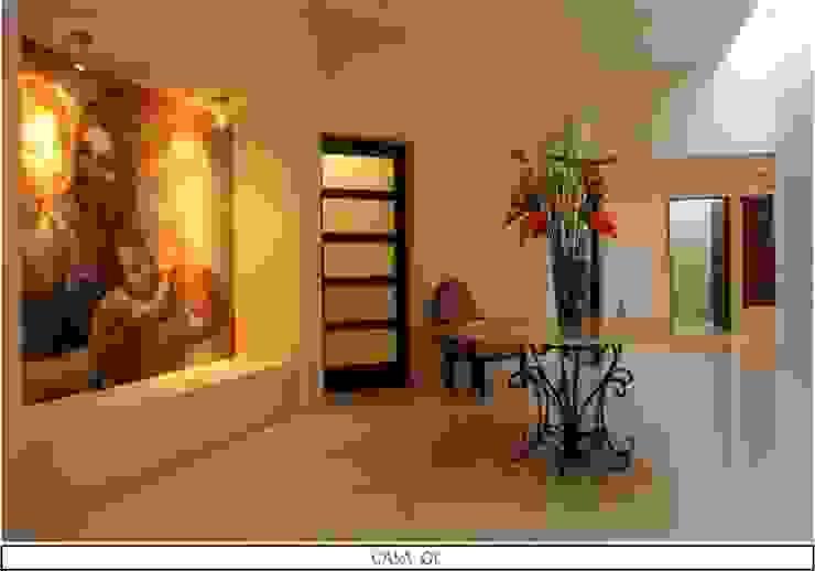 Modern Corridor, Hallway and Staircase by AIDA TRACONIS ARQUITECTOS EN MERIDA YUCATAN MEXICO Modern Marble