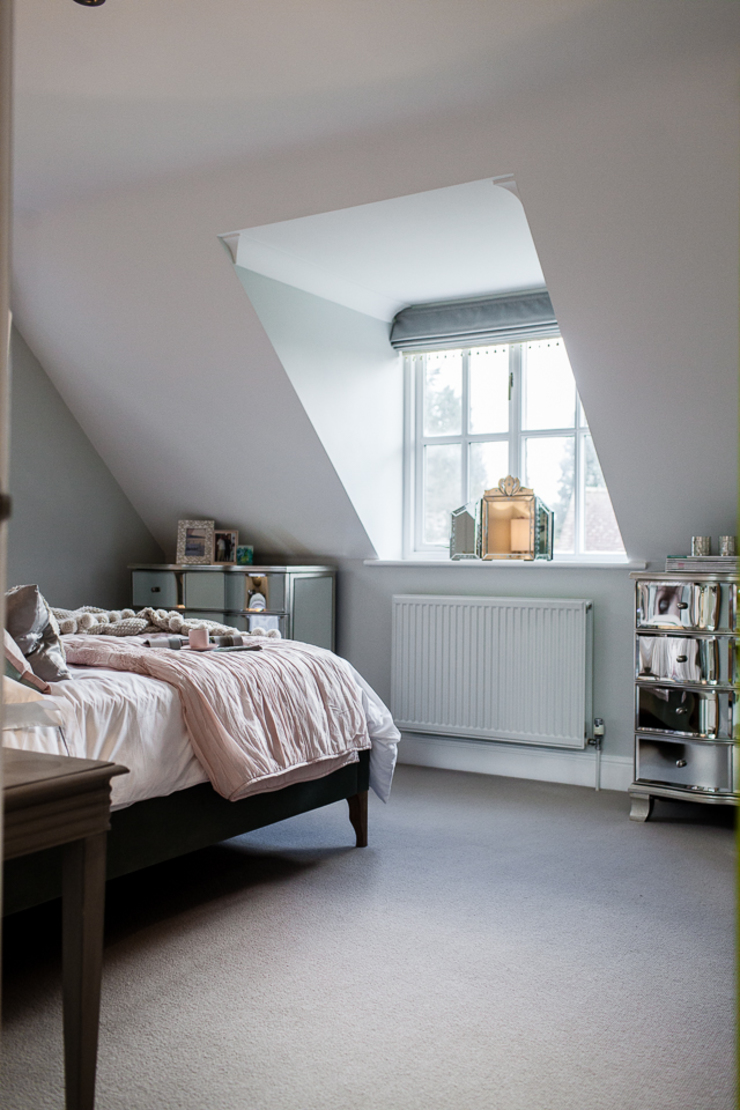 Colourful Transformation Lauren Gilberthorpe Interiors Eclectic style bedroom Green