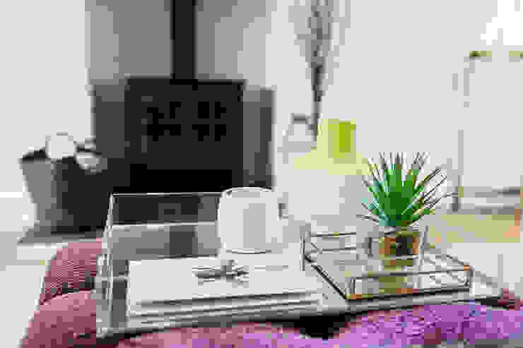 Colourful Transformation Lauren Gilberthorpe Interiors Living room Pink