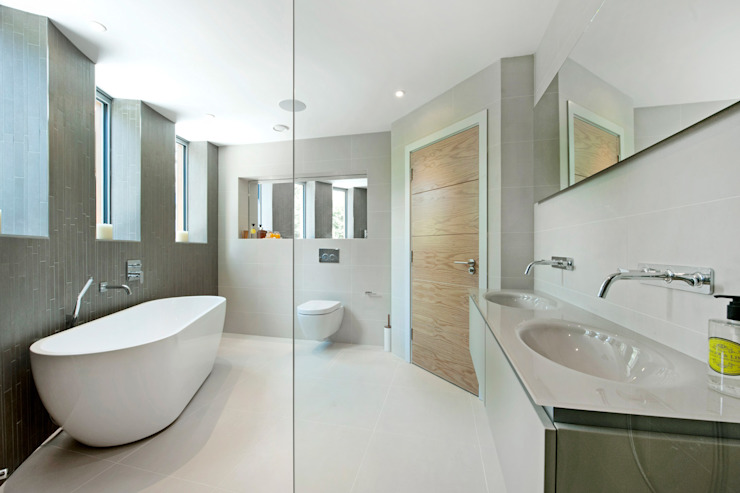 Brudenell Avenue, Canford Cliffs, Poole David James Architects & Partners Ltd Modern bathroom