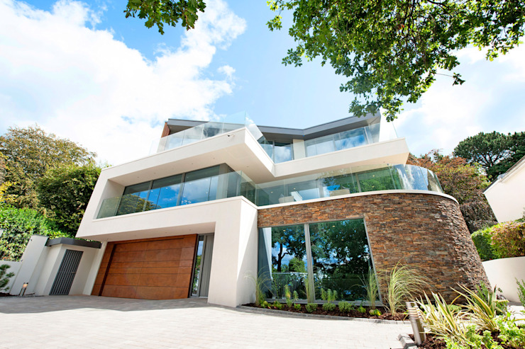 Brudenell Avenue, Canford Cliffs, Poole David James Architects & Partners Ltd Modern houses