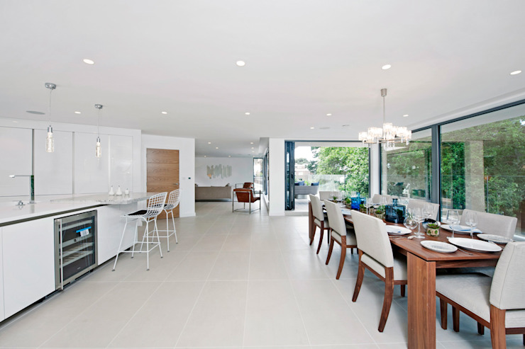 Brudenell Avenue, Canford Cliffs, Poole Modern dining room by David James Architects & Partners Ltd Modern