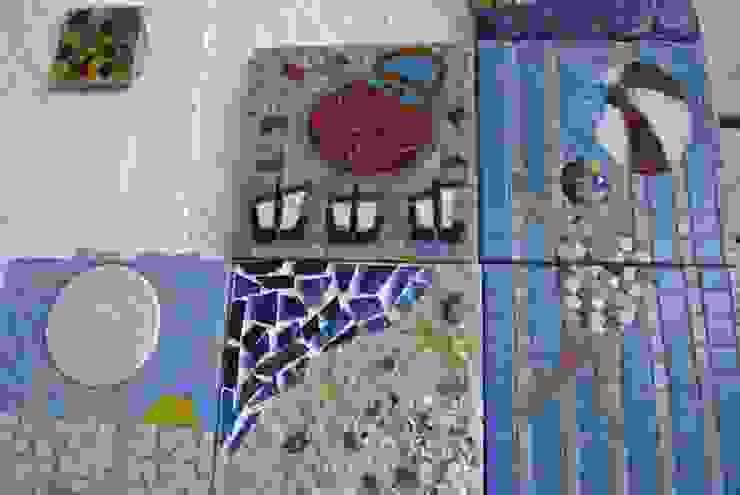 Bodrum'da özel bir villanın dış duvarı için yapılan mozaik ve seramik uygulama Mozaik Sanat Evi Akdeniz