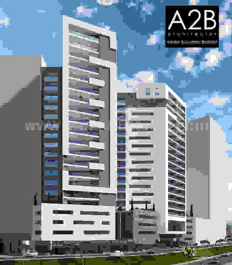 3D Commercial Exterior Rendering Design Modern office buildings by Yantram Architectural Design Studio Modern