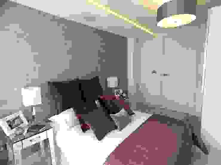 غرفة نوم تنفيذ Progressive Design London , حداثي