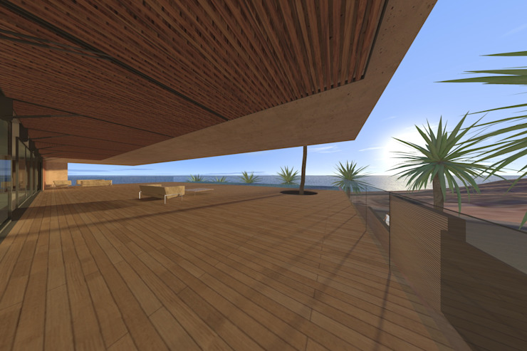 Casa Luanda Varandas, marquises e terraços modernos por Lousinha Arquitectos Moderno
