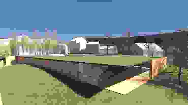 Centro Paroquial de Aguim Jardins minimalistas por Lousinha Arquitectos Minimalista