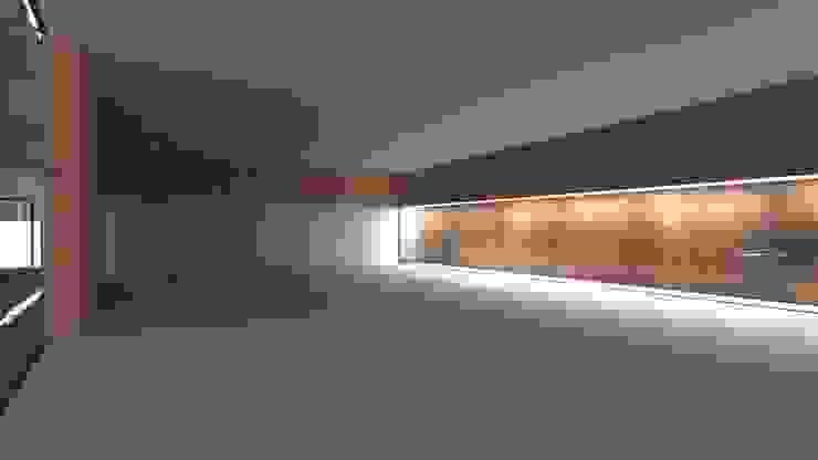 Centro Paroquial de Aguim Salas de estar minimalistas por Lousinha Arquitectos Minimalista