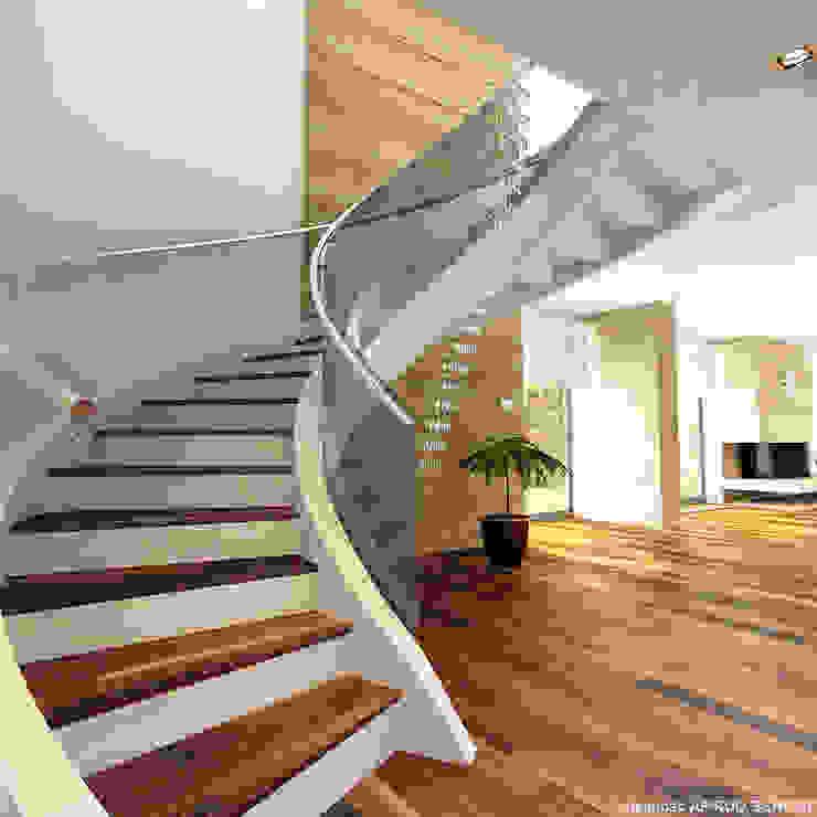 schody do salonu Nowoczesny salon od A.P. RUD Schody Nowoczesny