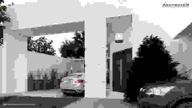 CASA MAGALLANES Casas modernas de arquitecto9.com Moderno Concreto