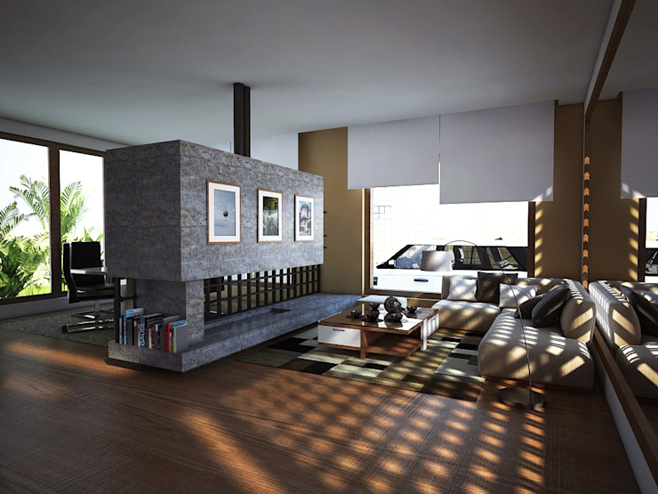 Sala Salas modernas de Gliptica Design Moderno Concreto
