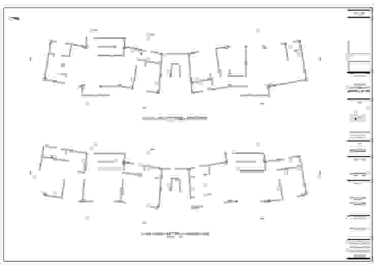 Plantas arquitectónicas de John Robles Arquitectos Moderno