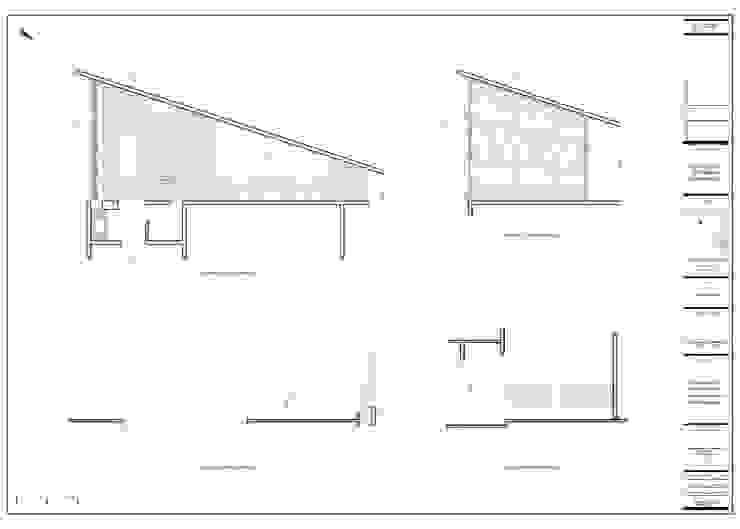 Planimetrías de diseño de John Robles Arquitectos Rústico