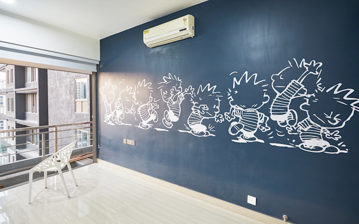 calvin and hobbes artwork: modern  by iSTUDIO Architecture,Modern