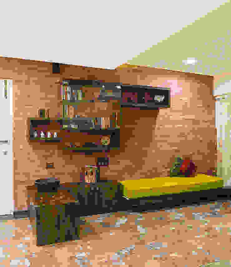 Salas de estilo rústico de iSTUDIO Architecture Rústico
