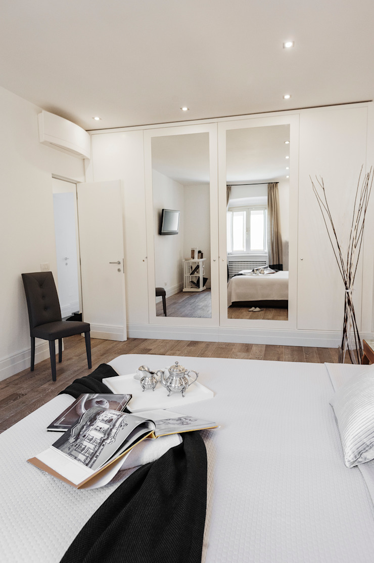 Loredana Vingelli Home Decor BedroomWardrobes & closets Solid Wood White