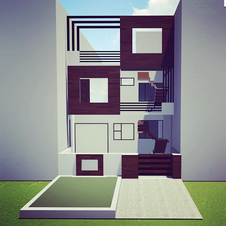 FRAMED RESIDENCE Modern houses by Spacetecture Modern