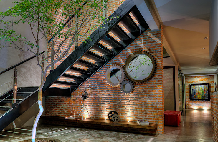 Industrial style corridor, hallway and stairs by Con Contenedores S.A. de C.V. Industrial
