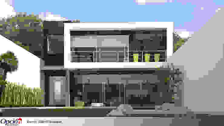 Casa en cuernavaca Casas modernas de Global Render Moderno Pizarra