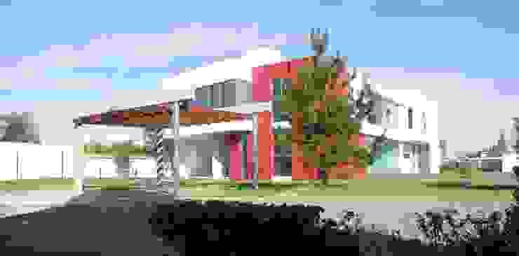 CASA PZ ARQUIMIA ARQUITECTOS Casas modernas de Arquimia Arquitectos Moderno Concreto