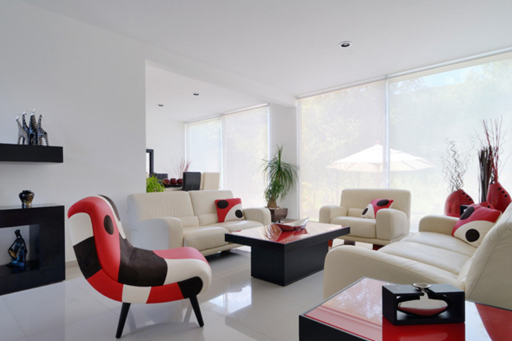 Excelencia en Diseño Phòng khách Gỗ-nhựa composite White