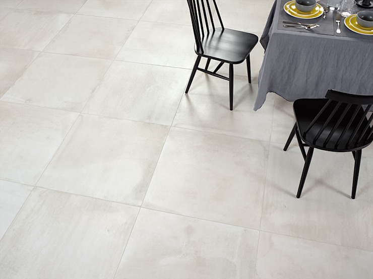 Central Moon Cement Effect Porcelain Tiles: modern  by The London Tile Co., Modern Porcelain
