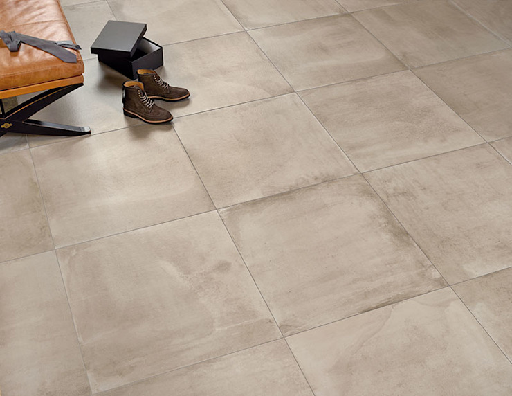Central Sand Cement Effect Porcelain Tiles: modern  by The London Tile Co., Modern Porcelain