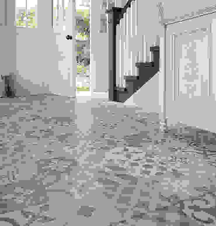Orient Grey Patterned Porcelain Floor Tiles de The London Tile Co. Moderno Porcelana