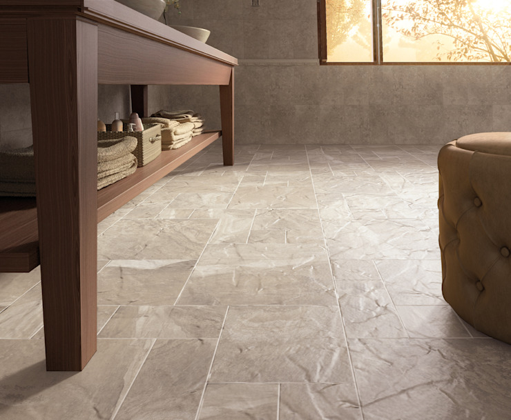Senate Stone Effect Porcelain Flagstone Tiles The London Tile Co. Paredes y suelosBaldosas y azulejos