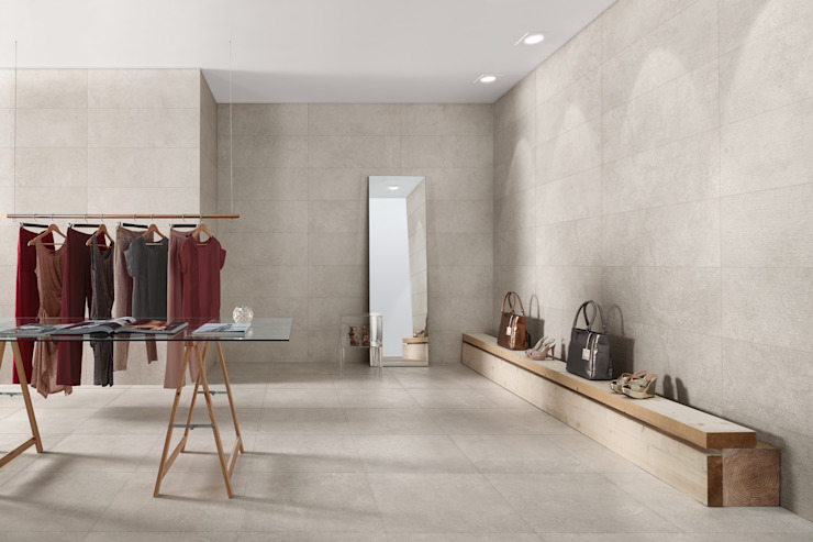 Napoli Simple Wall, Floor & Textured Tiles de The London Tile Co. Moderno