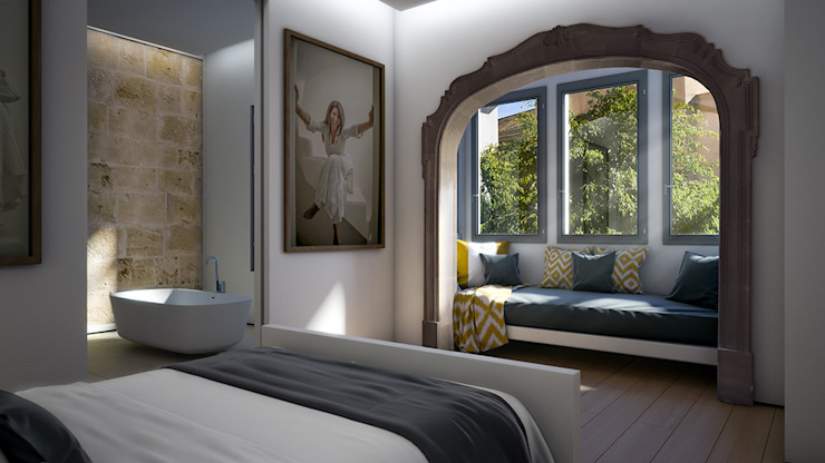 Bedroom: eclectic  by 4D Studio Architects and Interior Designers, Eclectic