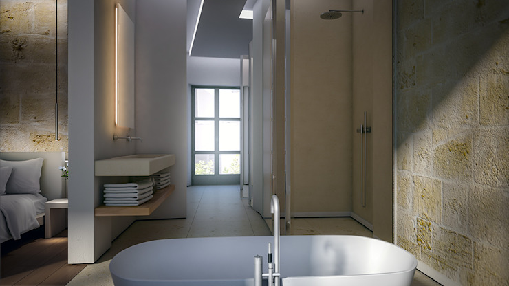Bathroom 4D Studio Architects and Interior Designers