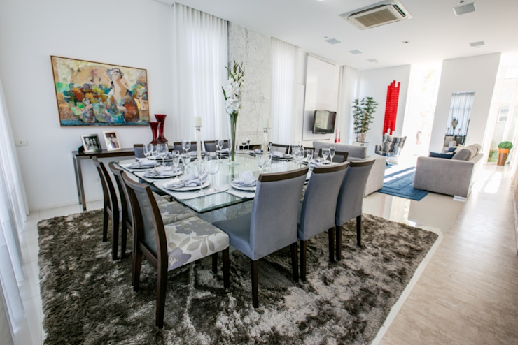 Bernacki Arquitetura Modern Dining Room Grey