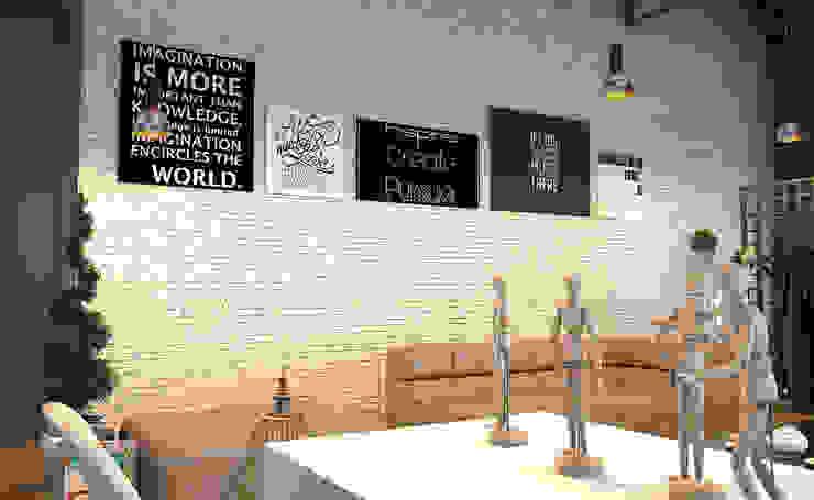 INTERIOR Salones modernos de PROYECTARQ | ARQUITECTOS Moderno Ladrillos