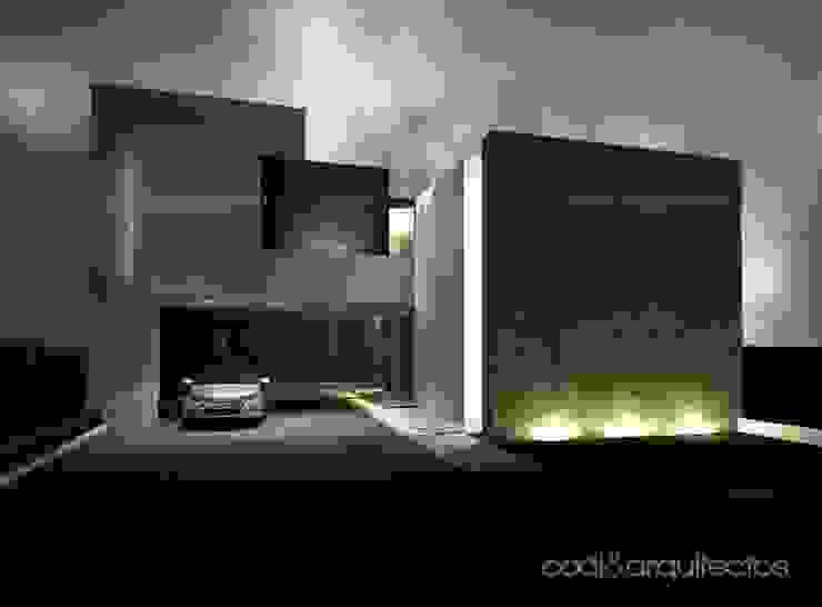 CASA J.JULIA Casas minimalistas de codi&arquitectos Minimalista Ladrillos