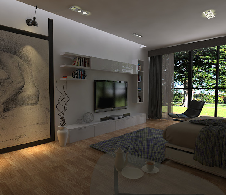 RENDER DE RECAMARA. Dormitorios minimalistas de hole Minimalista