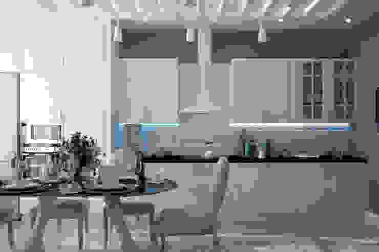Dapur Gaya Mediteran Oleh Студия интерьерного дизайна happy.design Mediteran