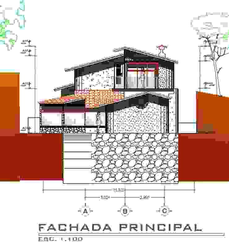 Casa Rojas Arquitecto Eduardo Carrasquero Casas de estilo rústico