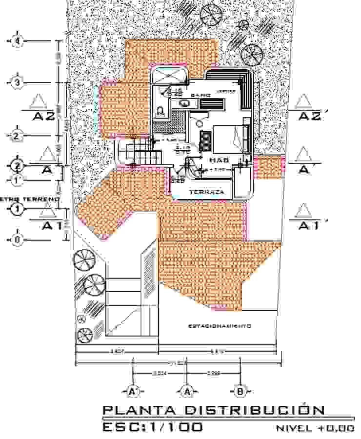 Casa Rojas Arquitecto Eduardo Carrasquero Cuartos de estilo rústico