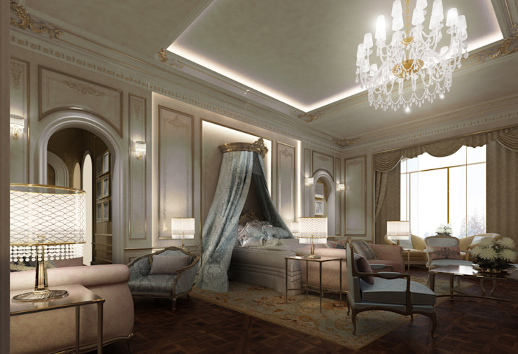 Exploring Luxurious Homes : French Style Bedroom Design Classic style bedroom by IONS DESIGN Classic Copper/Bronze/Brass