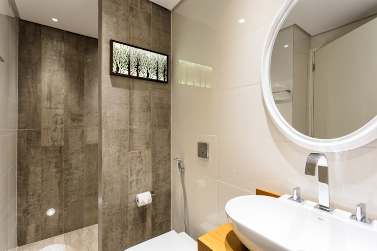 Banheiro Clean Banheiros modernos por Motirõ Arquitetos Moderno