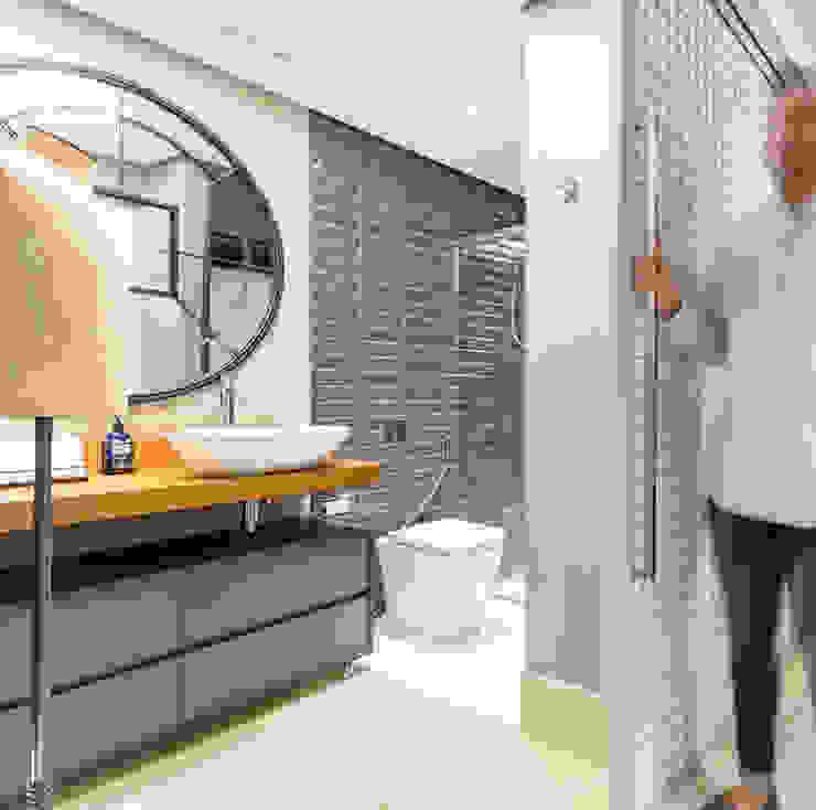 Banheiro Masculino Banheiros industriais por Motirõ Arquitetos Industrial