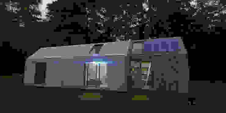 Arquiteto João Contente - Casa Simbiotica Noite por Arquiteto João Contente Associados