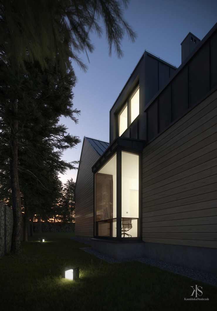 Kamińska Stańczak Casas de estilo moderno