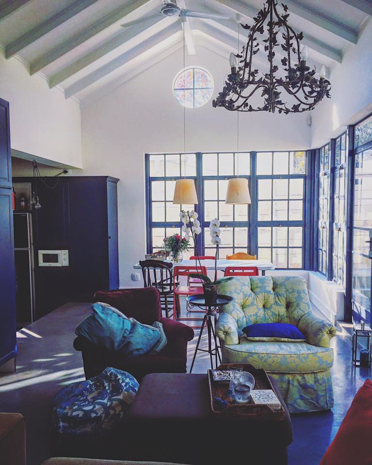 Alterations & Additions to house in Parkhurst, Johannesburg Eclectic style conservatory by 4D AND A ARCHITECTS Eclectic