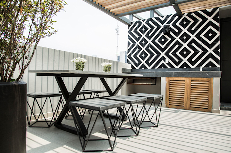 Roof terrace by homify, Modern