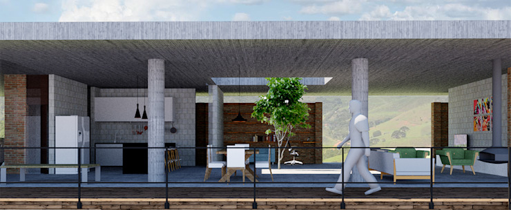 Alvorada Arquitetos Modern houses