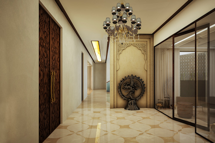 23DC Architects Ruang Keluarga Modern Kayu Wood effect